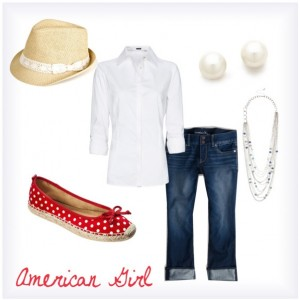 """""""American Girl"""" Senior Outfit"""